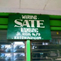 Today's Lunch: Sate Kambing Kutowinangun
